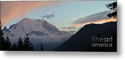 Summer Sunset On Mt. Rainier Metal Print