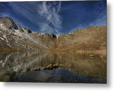 Metal Print featuring the photograph Summit Lake In September by Stephen  Johnson