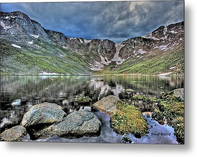 Metal Print featuring the photograph Summit Lake Tundra And Granite by Stephen  Johnson
