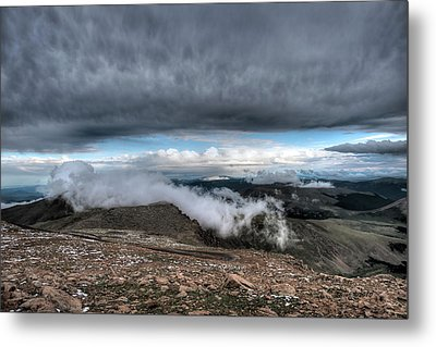Metal Print featuring the photograph Summit View On Mount Evans by Stephen  Johnson