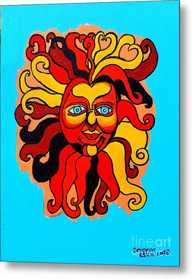 Sun God II Metal Print by Genevieve Esson