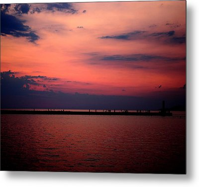 Sun Has Set Metal Print by Leigh Edwards