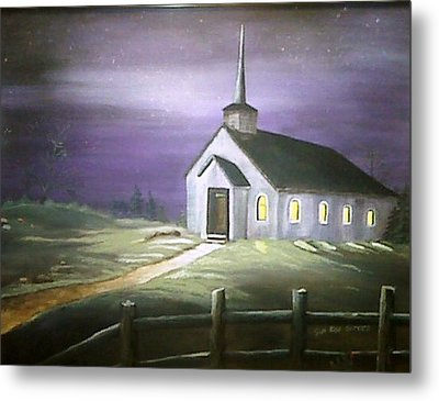 Sun Rise Service Metal Print by Evelyn Bloomer