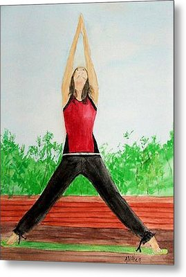 Metal Print featuring the painting Sun Salutation by Alethea McKee