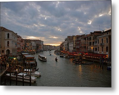 Sun Sets Over Venice Metal Print by Eric Tressler
