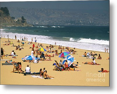 Sunbathers Metal Print by David Frazier and Photo Researchers