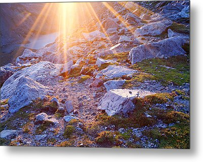Metal Print featuring the photograph Sunburst Over Abyss Lake by Jim Garrison