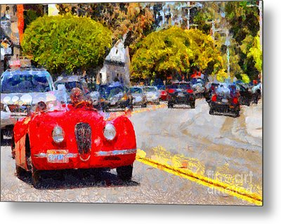 Sunday Drive . 7d15939 Metal Print by Wingsdomain Art and Photography