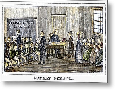 Sunday School, 1832 Metal Print by Granger
