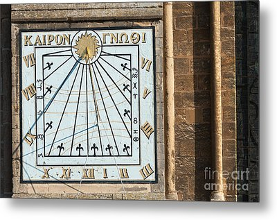 Metal Print featuring the photograph Sundial by Andrew  Michael