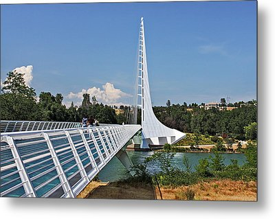 Sundial Bridge - Sit And Watch How Time Passes By Metal Print by Christine Till