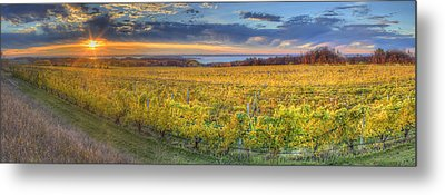 Sunet From Old Mission Metal Print by Twenty Two North Photography