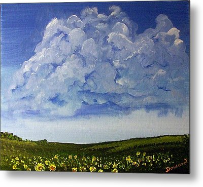 Sunflower Field Metal Print by Raymond Doward