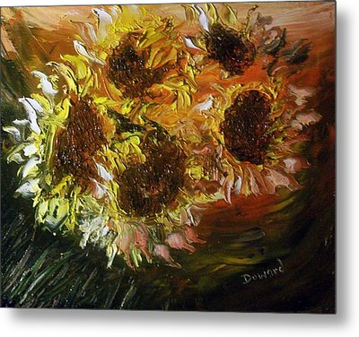 Sunflowers 3 Metal Print by Raymond Doward