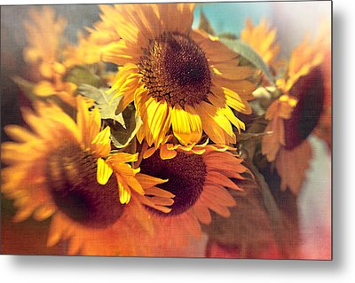 Sunflowers Metal Print by Boston Thek Imagery