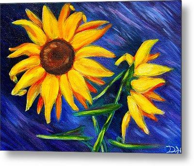 Sunflowers Metal Print by Diana Haronis