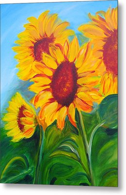 Sunflowers For California Lovers Metal Print by Dani Altieri Marinucci