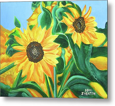 Sunflowers Metal Print by John Keaton