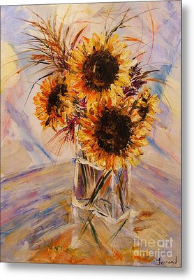 Sunflowers Metal Print by Karen  Ferrand Carroll