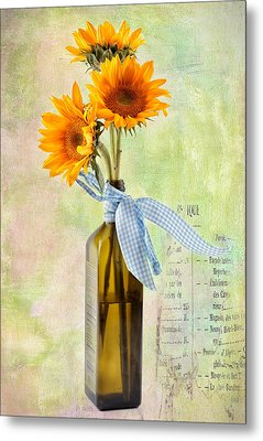 Sunflowers No 402 Metal Print by James Bethanis