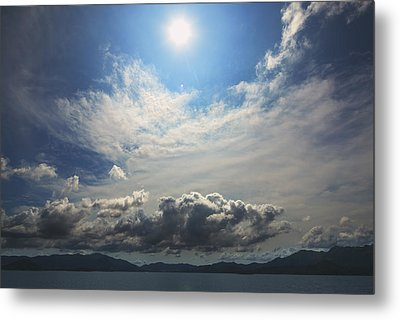 Sunlight And Cloud Metal Print by Afrison Ma