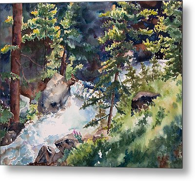 Sunlight And Waterfalls Metal Print by Amy Caltry
