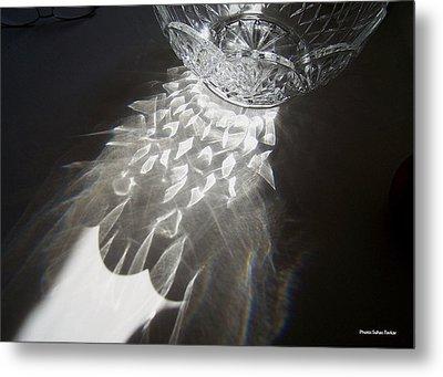 Sunlight On Crystal Bowl Metal Print by Suhas Tavkar