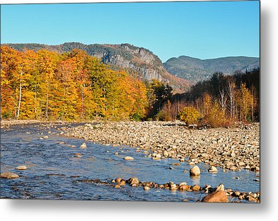 Sunlight On The Saco Metal Print by Geoffrey Bolte