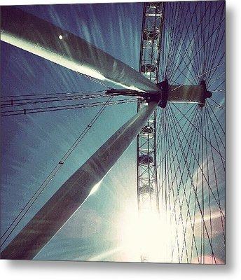 Sunnd Day In London, London Eye Metal Print by Abdelrahman Alawwad