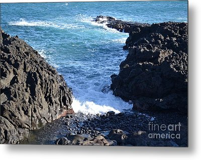 Metal Print featuring the photograph Sunny Day And Stormy Sea 3 by Kathleen Pio