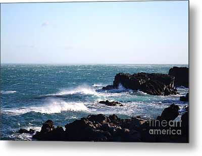 Metal Print featuring the photograph Sunny Day And Stormy Sea 4 by Kathleen Pio