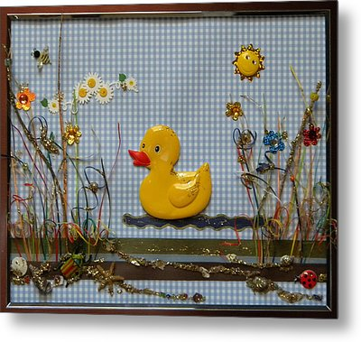 Sunny Duck Metal Print by Gracies Creations