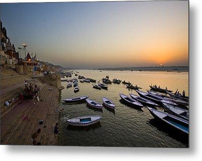 Sunrise At Ganges River Metal Print