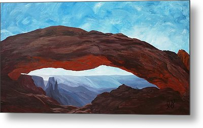 Sunrise At Mesa Arch Metal Print by Estephy Sabin Figueroa