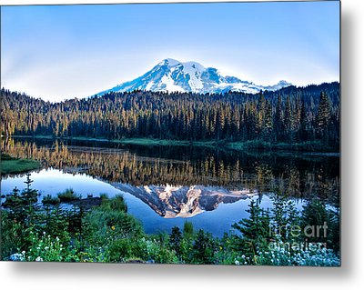 Sunrise At Reflection Lake Metal Print