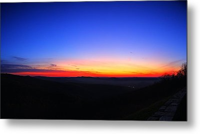 Sunrise At Skyline Drive Metal Print by Metro DC Photography