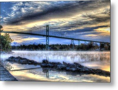 Sunrise At The Bridge Metal Print by Sharon Batdorf