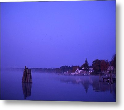 Sunrise At Wolfeboro Bay Metal Print by Stephen Smith