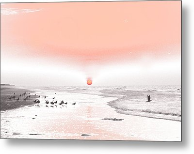Pastel Sunrise Beach Metal Print