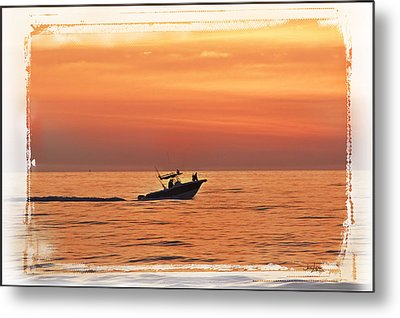 Metal Print featuring the photograph Sunrise Boat Ride by Janie Johnson