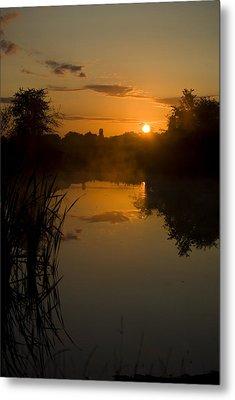 Sunrise By A Lake Metal Print by Pixie Copley