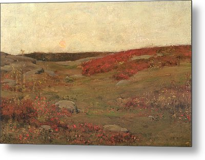 Sunrise In Autumn Metal Print by Childe Hassam