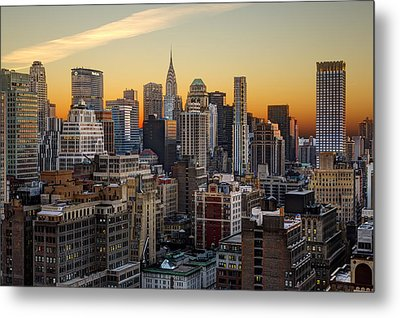 Sunrise In The City II Metal Print by Janet Fikar