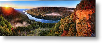 Sunrise In The Gorge Metal Print