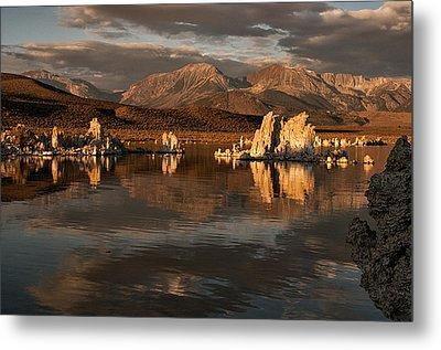 Sunrise On Mono Lake Metal Print