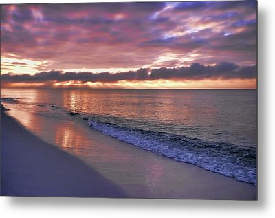 Sunrise On Navarre Beach Metal Print