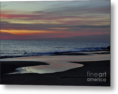 Sunrise On The Beach Metal Print by Tamera James
