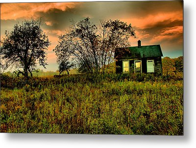Sunrise On The Prairie Metal Print by Matthew Winn