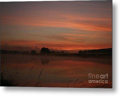 Sunrise On The River Metal Print by Torsten Dietrich