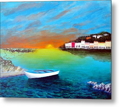 Sunrise On The Riviera Metal Print by Larry Cirigliano